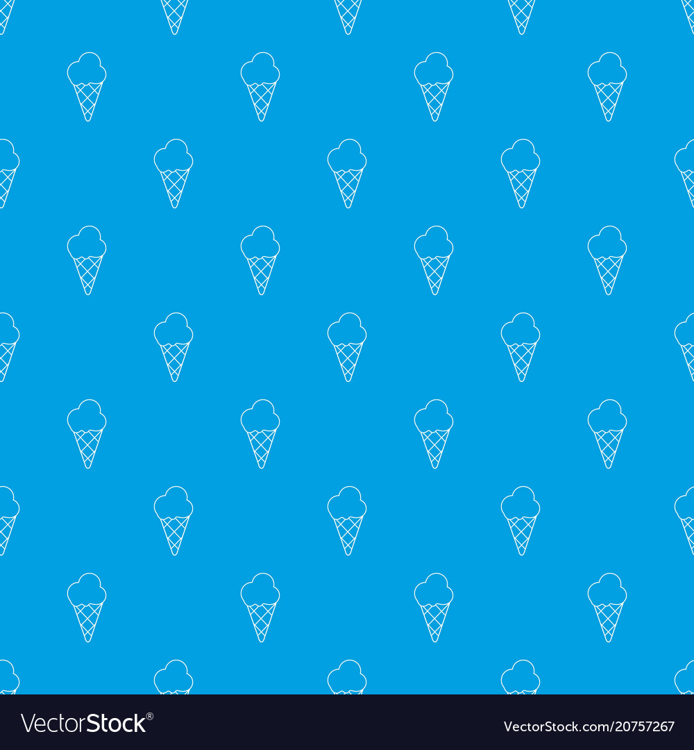 Cold ice cream pattern seamless blue