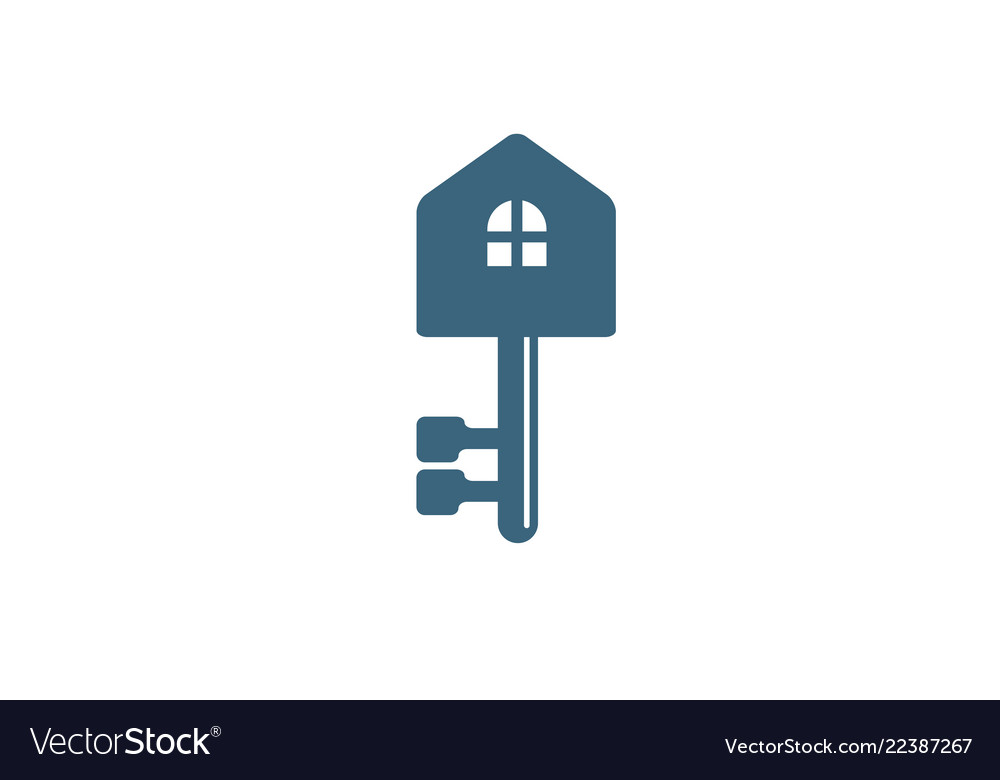 Creative house key logo