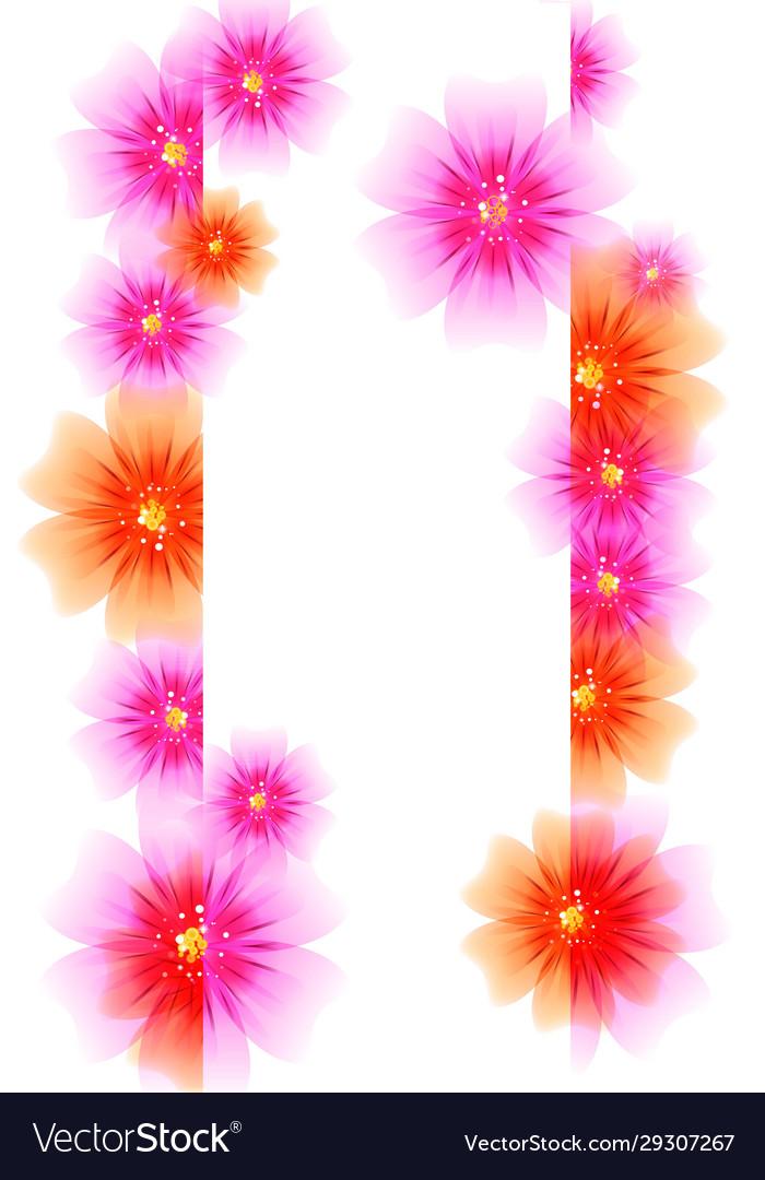 Cute floral invitation cards