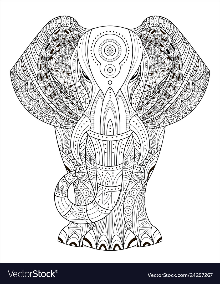 Elephant in entangle style