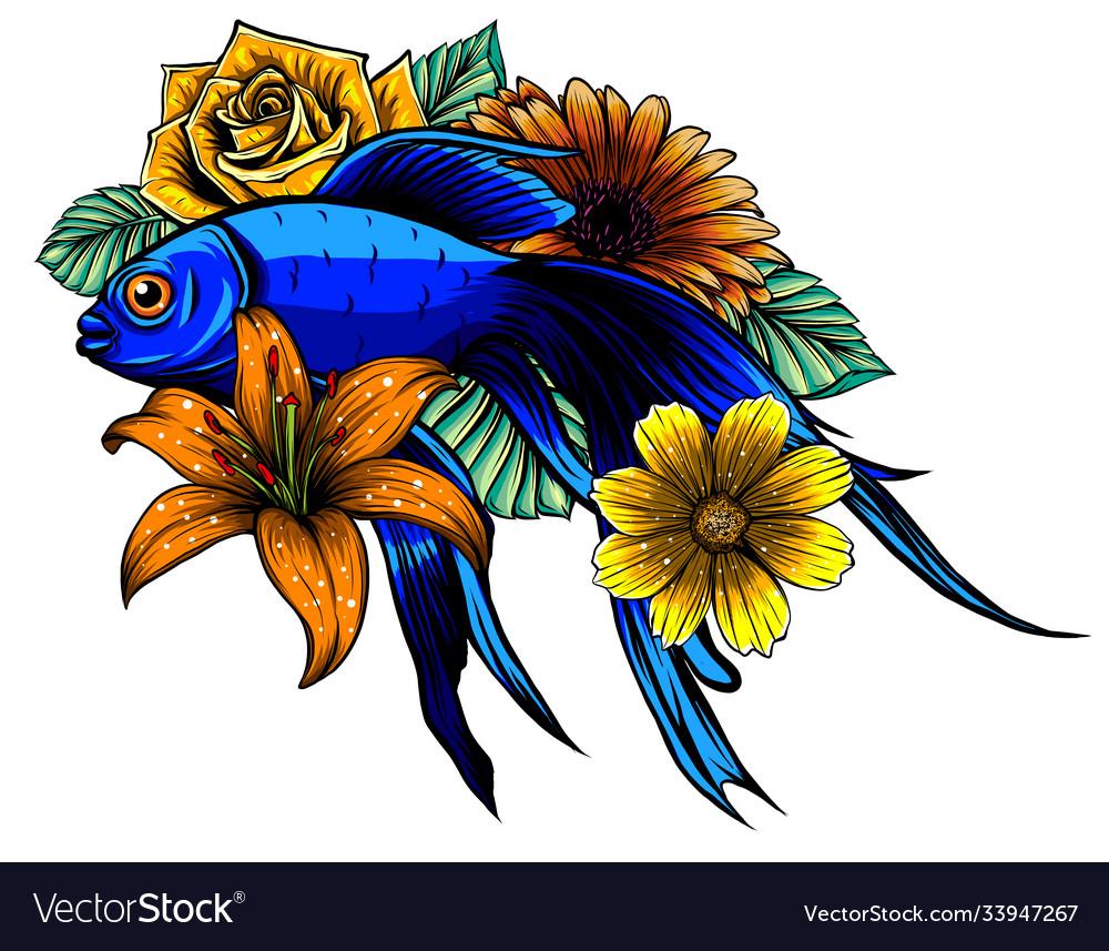Koi fish tattoo design art
