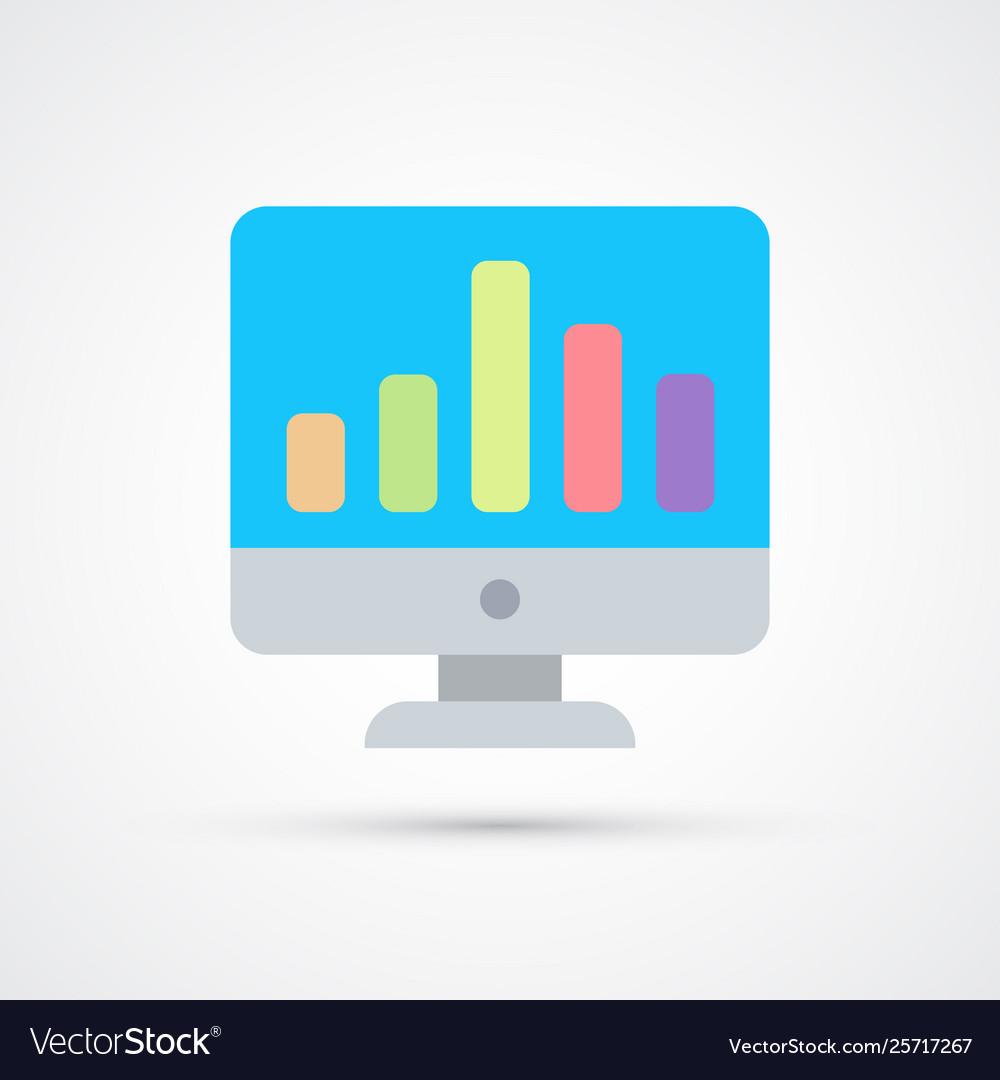 Monitor graph trendy symbol trendy colored