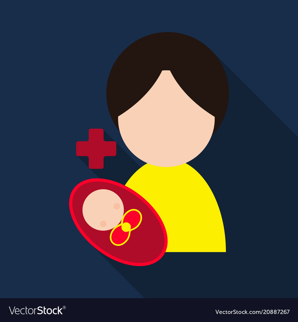 Mother and her baby isolated objects on vector image