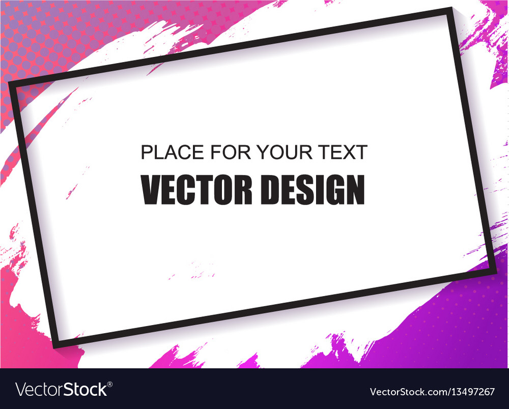 Universal banner frame place for text vector image