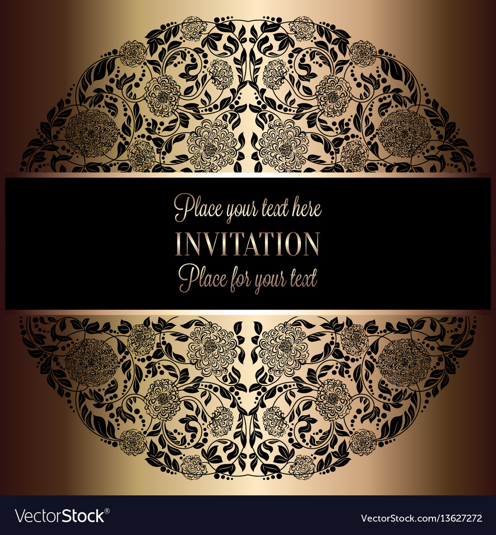 Baroque background with antique luxury black and