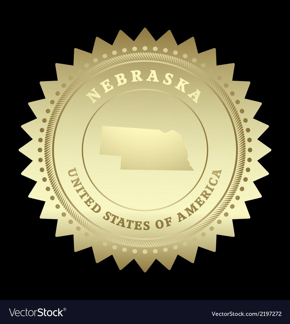 Gold star label Nebraska