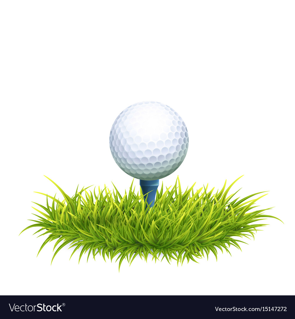 Golf Ball And Tee Royalty Free Vector Image Vectorstock