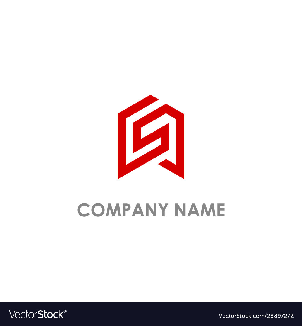 S initial shape line logo