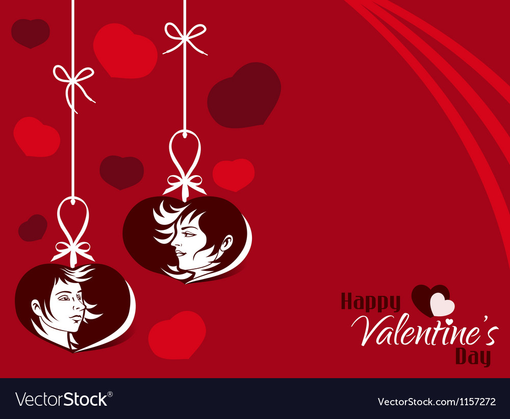 Valentine Couple Hanging Tag Background vector image