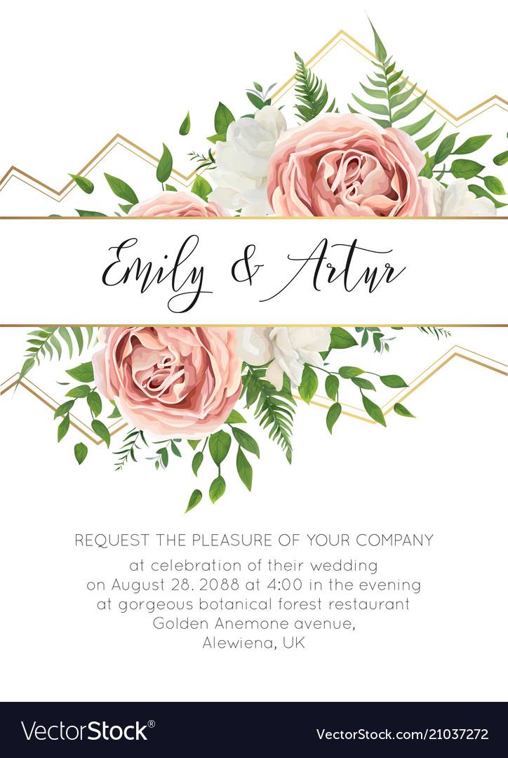 Wedding floral modern invite invitation card desig