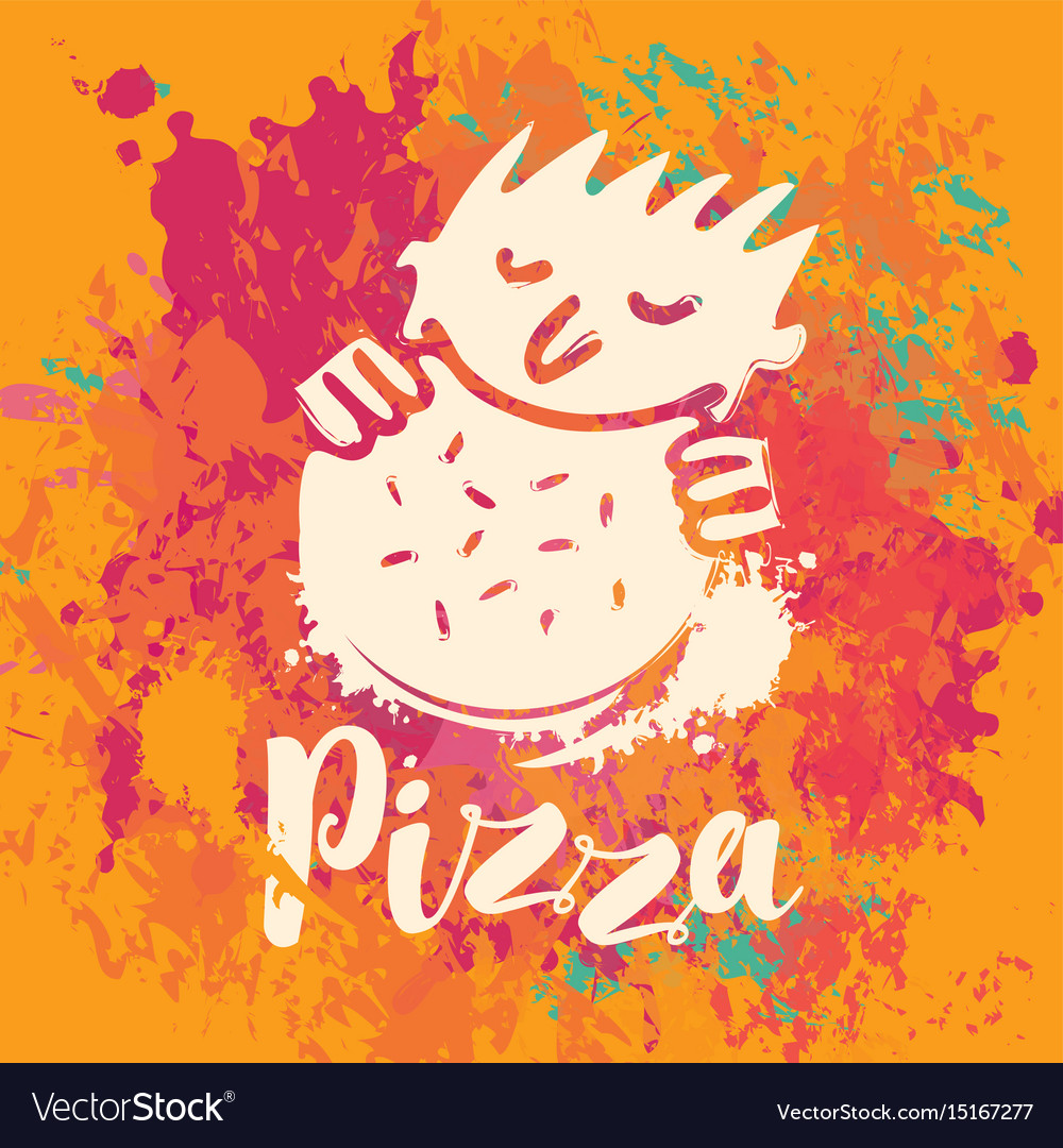 Banner for pizza on the abstract background