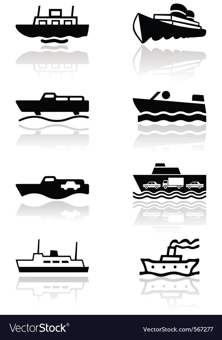 Boat symbol set