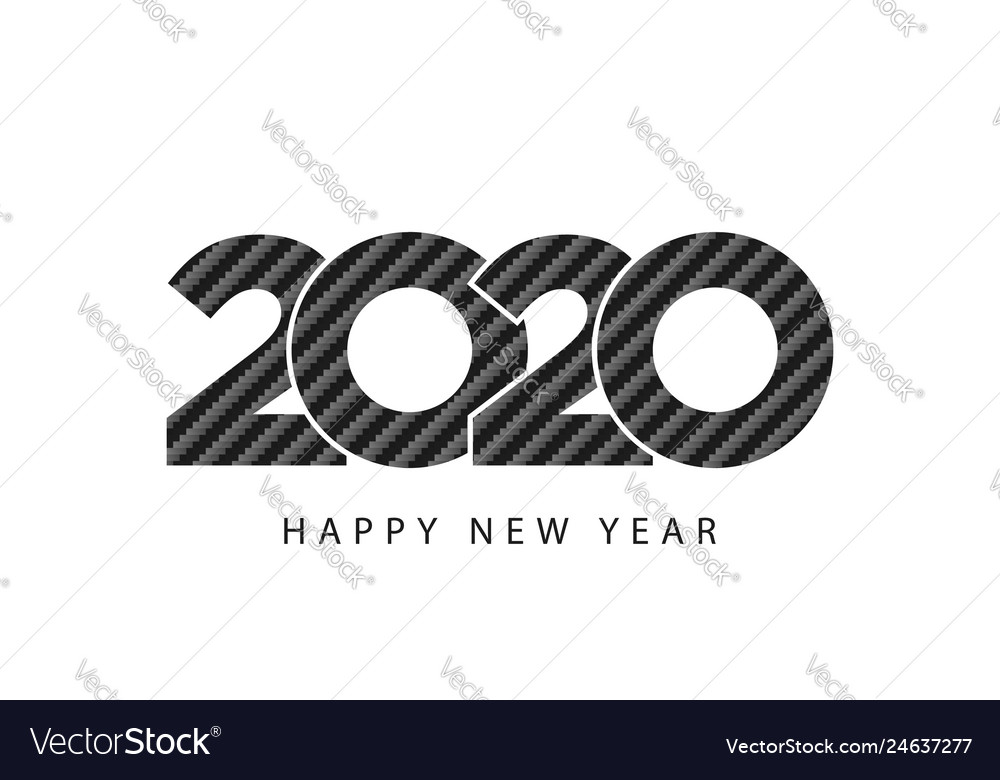 Carbon texture design 2020 happy new year