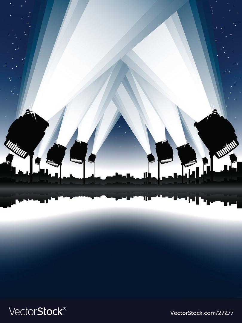 Celebration night spotlights vector image
