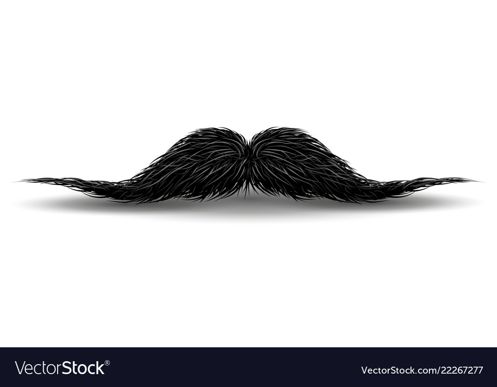 Charm mustaches for barbershop or mustache