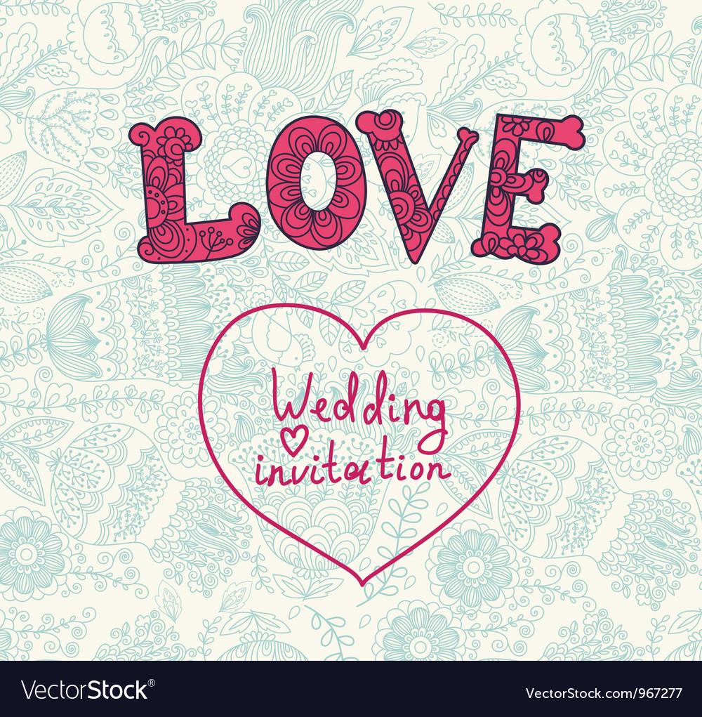 Floral Wedding Inviation