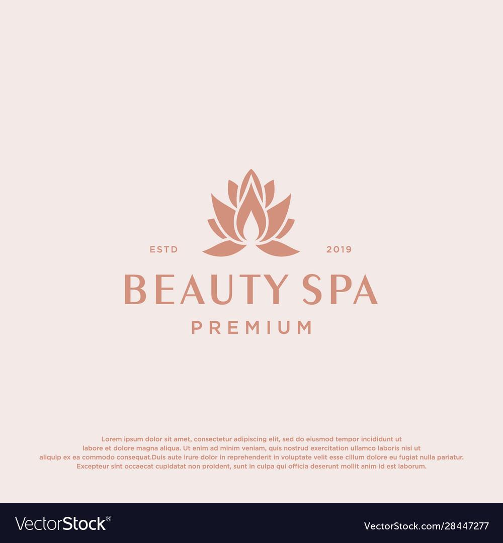 Lotus flower logo abstract beauty spa salon