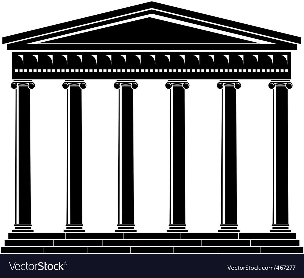 Portico colonnade architecture