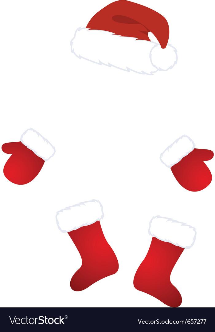 santa claus costume vector image - Santa Claus Coat