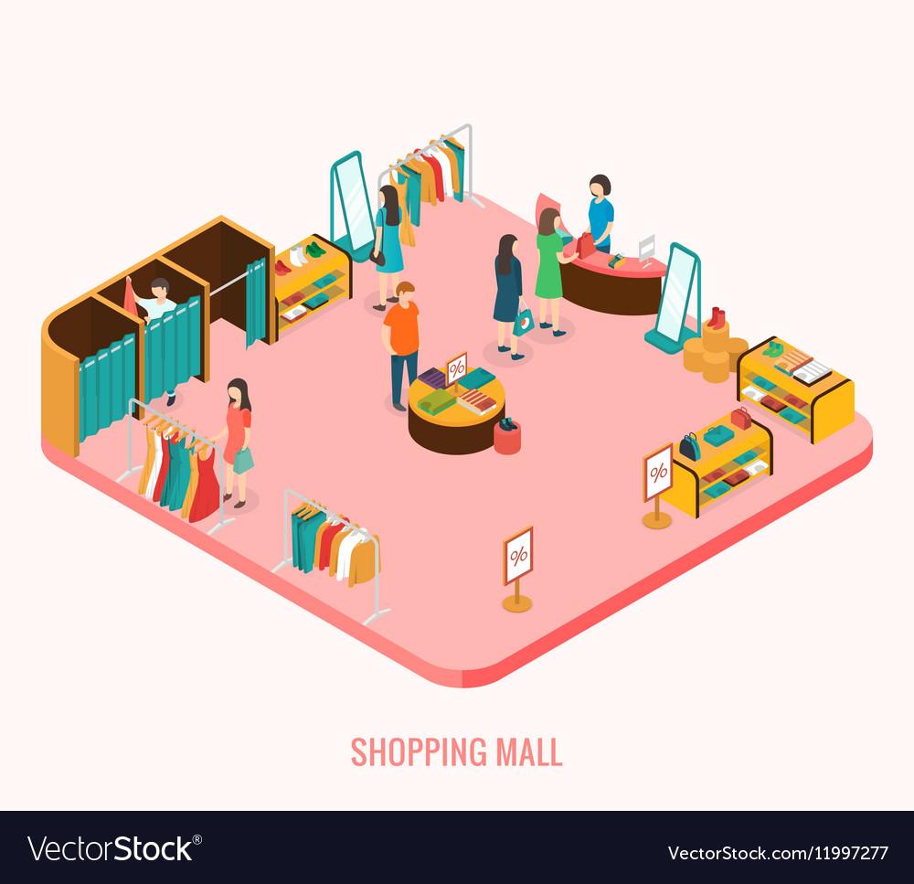 Shopping mall concept vector image