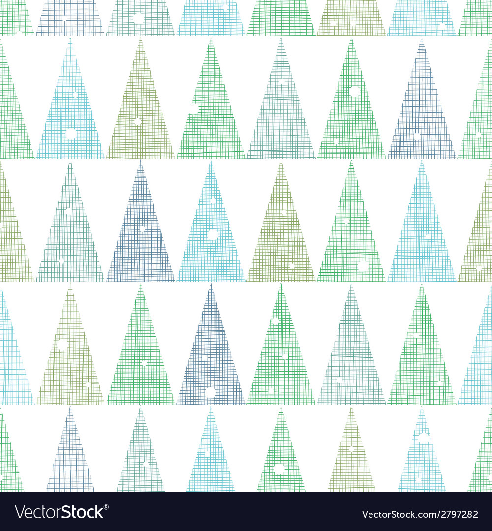 Abstract Christmas trees forest in snow seamless