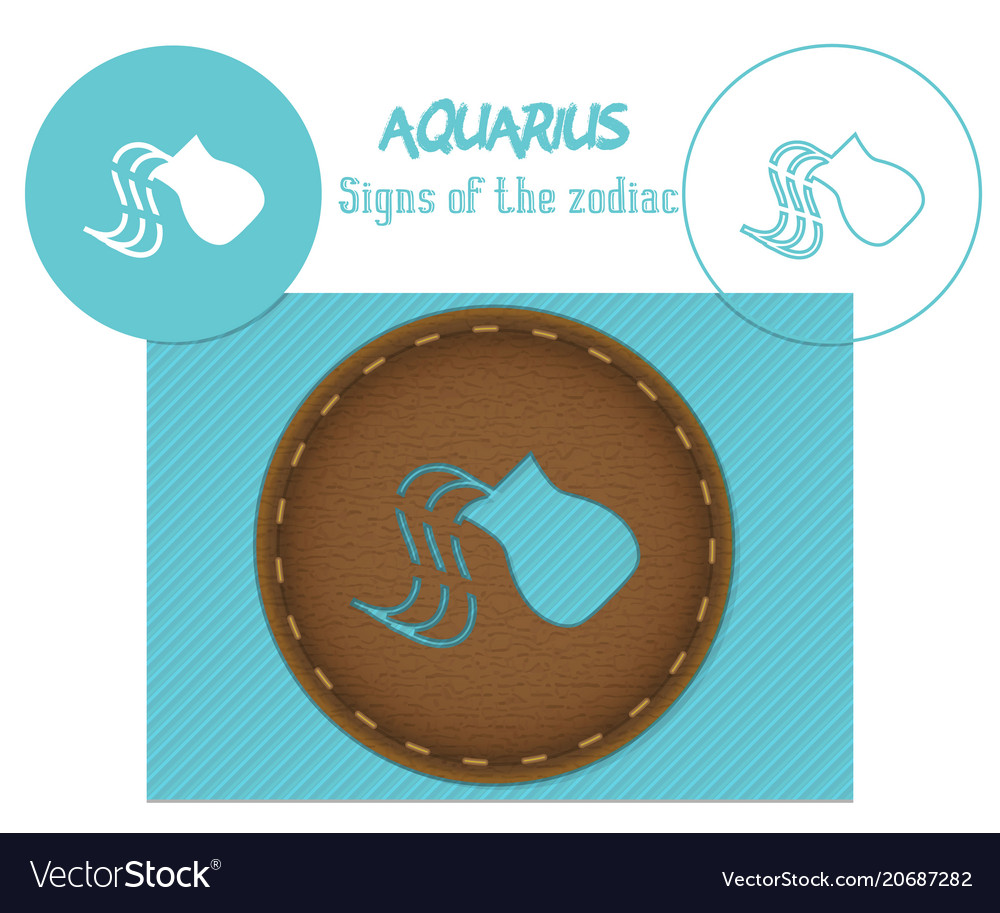 Aquarius signs of the zodiac laser cutting can
