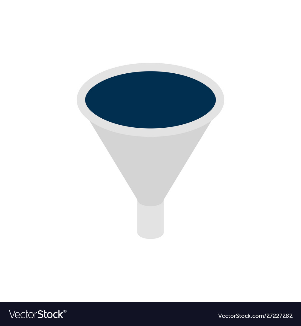Business funnel isometric object