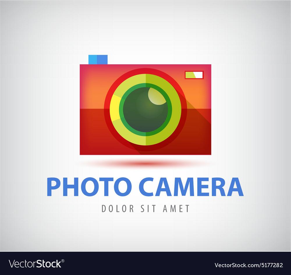 Colorful photo camera logo