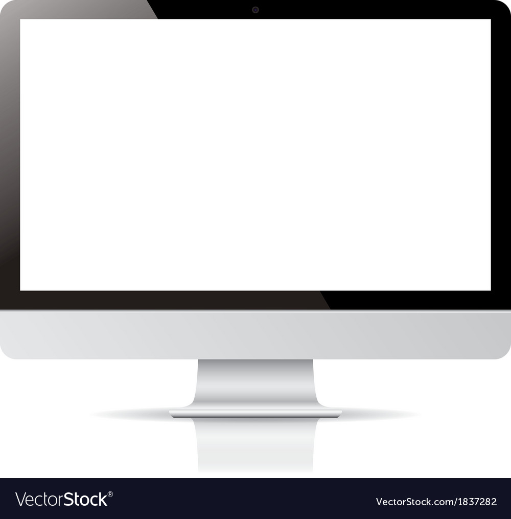 Computer display isolated on white background