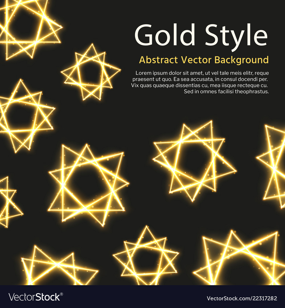 Festive background with gold abstract