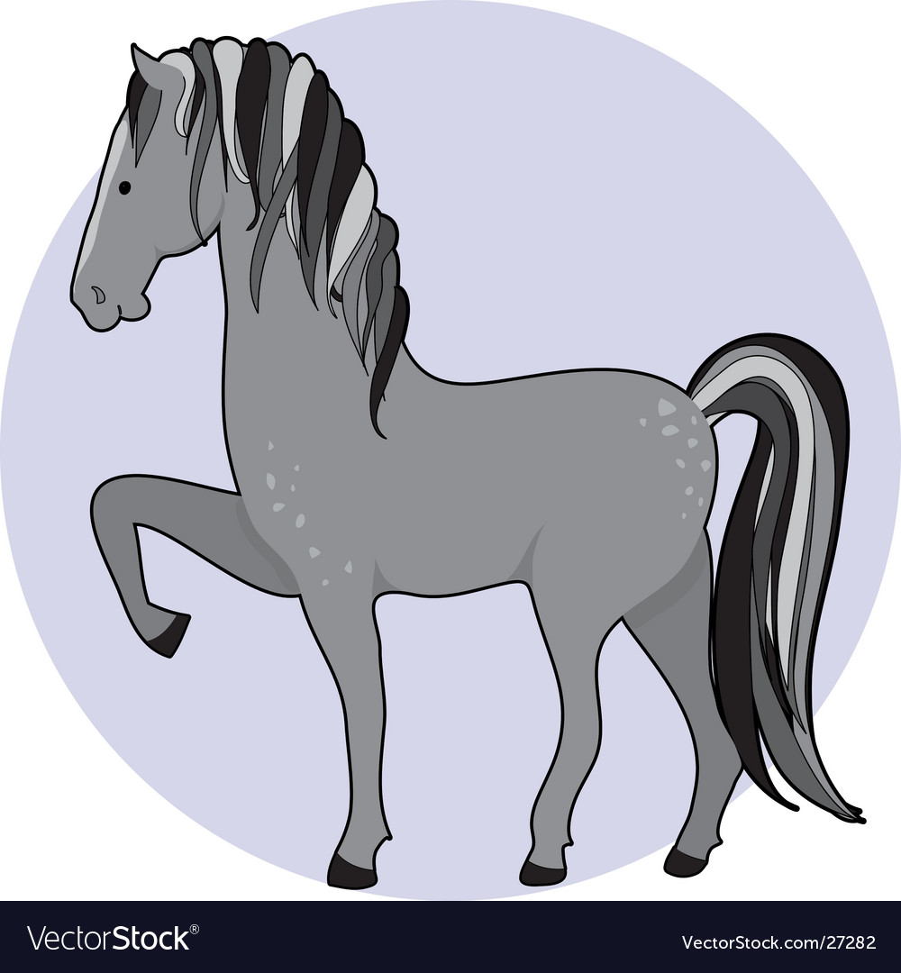 horse dapple royalty free vector image vectorstock