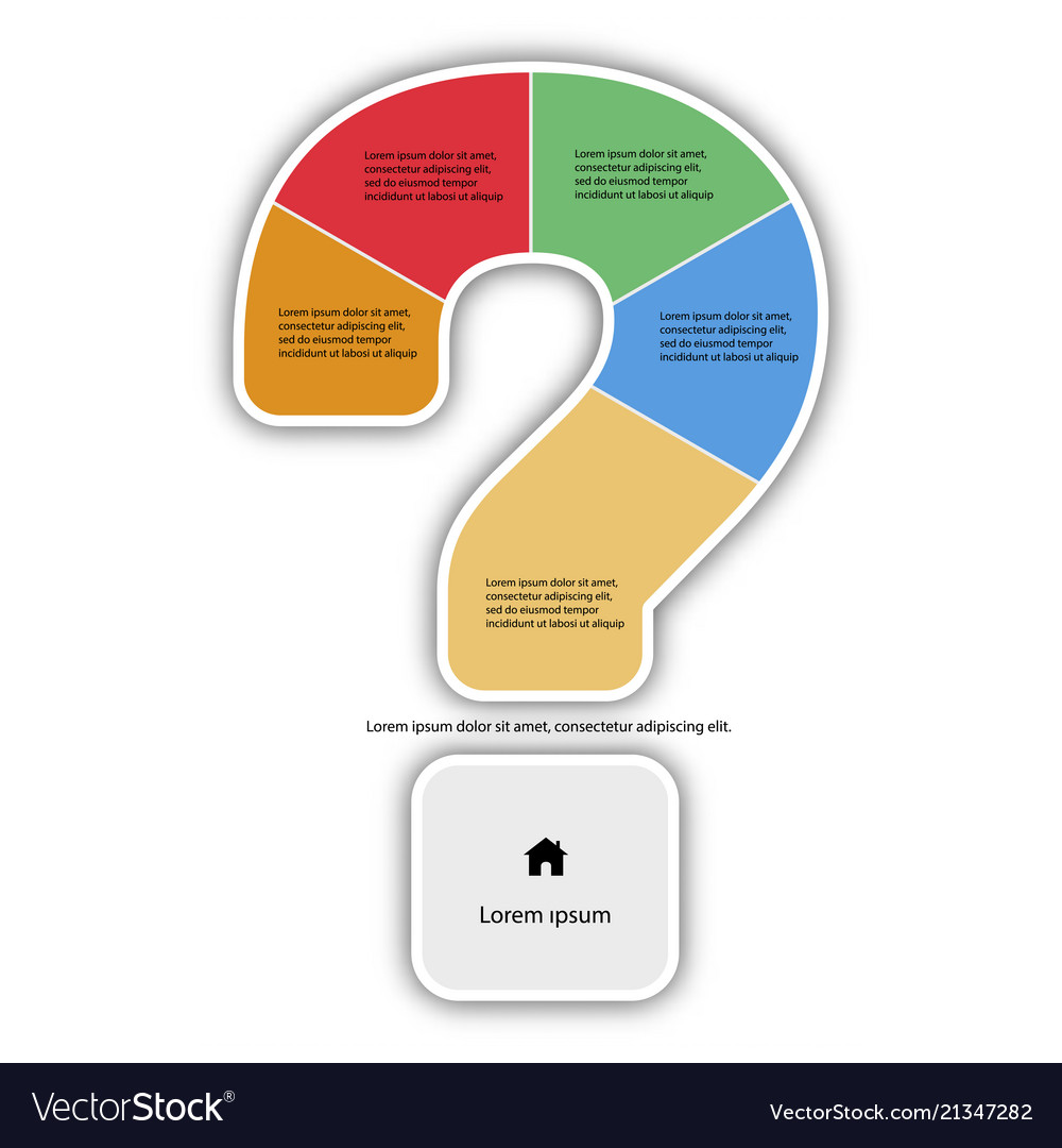 Question mark infographic report template made