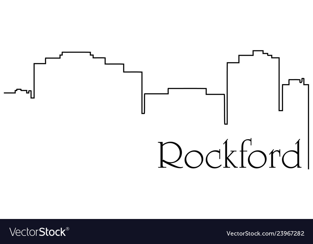 Rockford city one line drawing