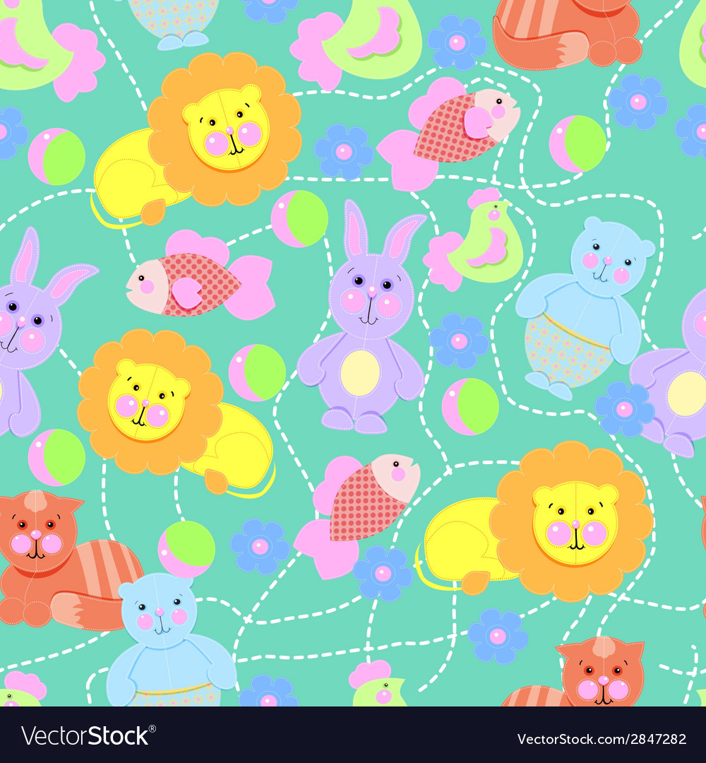 Toys pattern seamless vector image