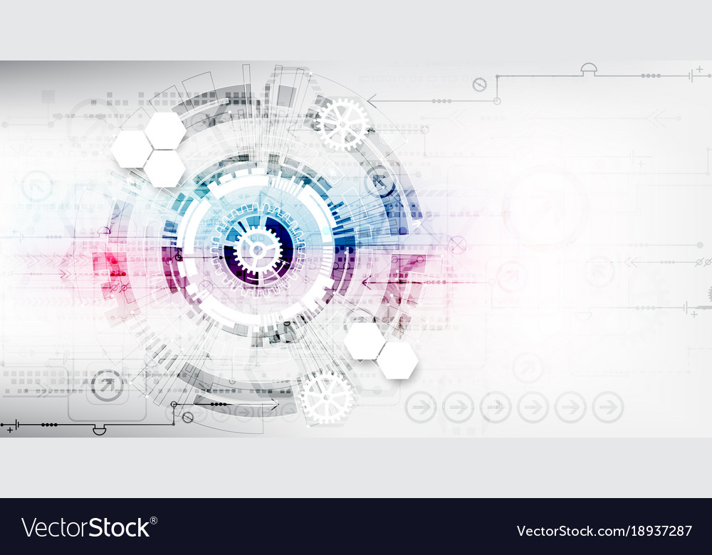 Abstract color digital communication technology