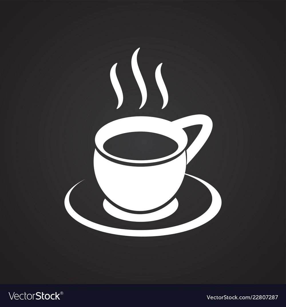 cup with hot tea on black background royalty free vector vectorstock