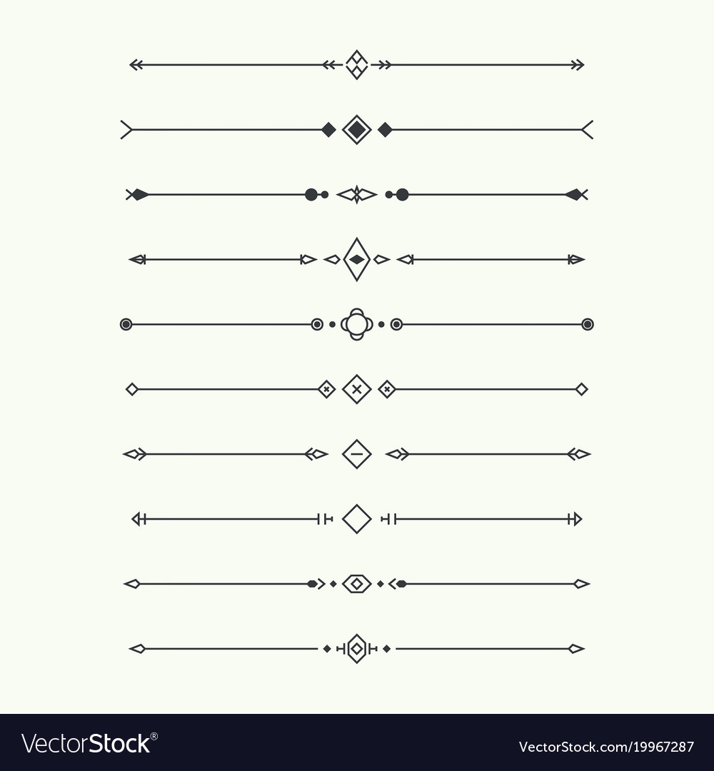 Dividers set isolated