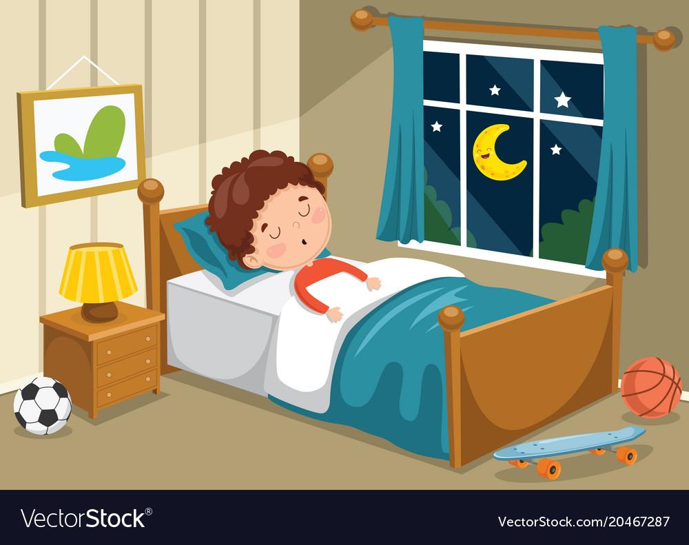 Kid sleeping Royalty Free Vector Image