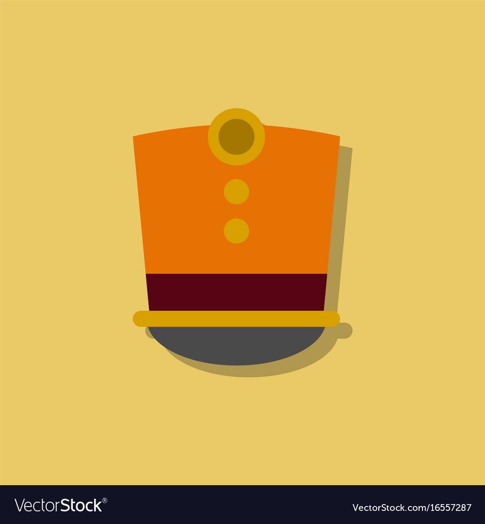 Magic hat in sticker style