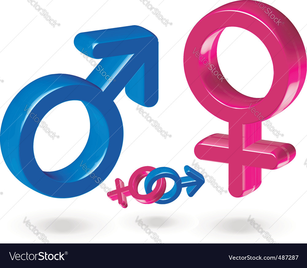Male and female gender symbol