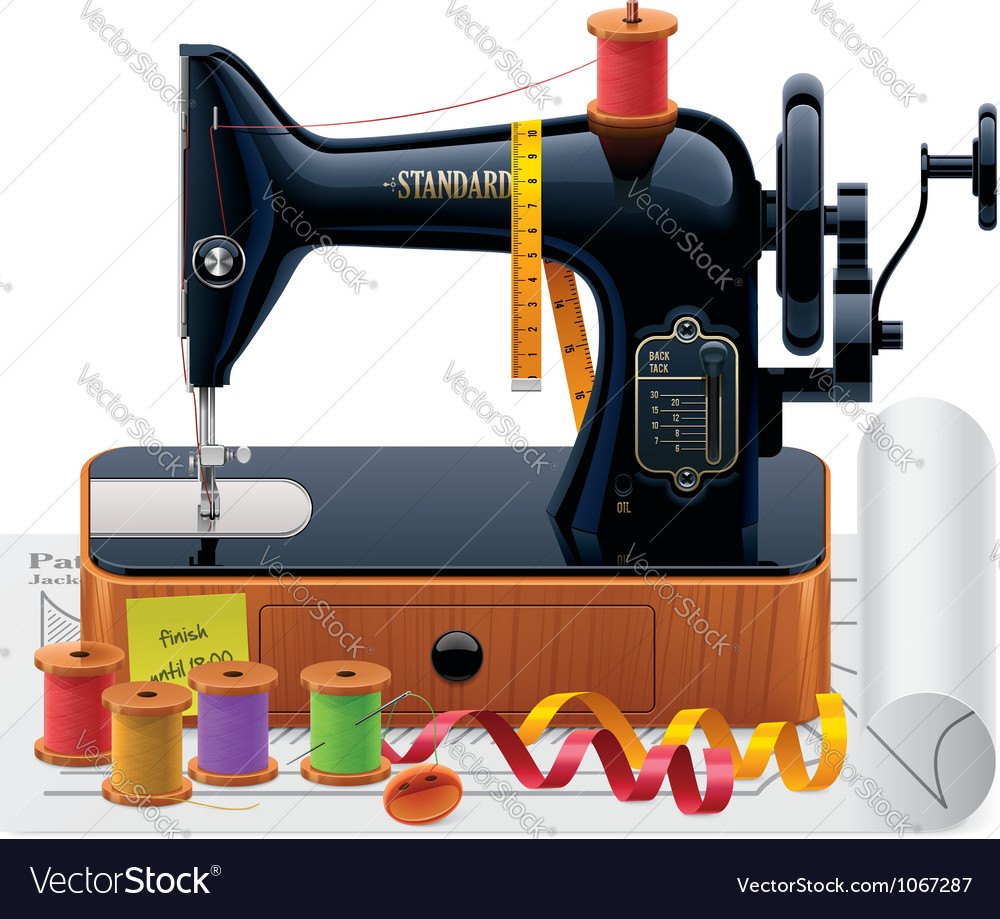 Retro tailoring icon vector image
