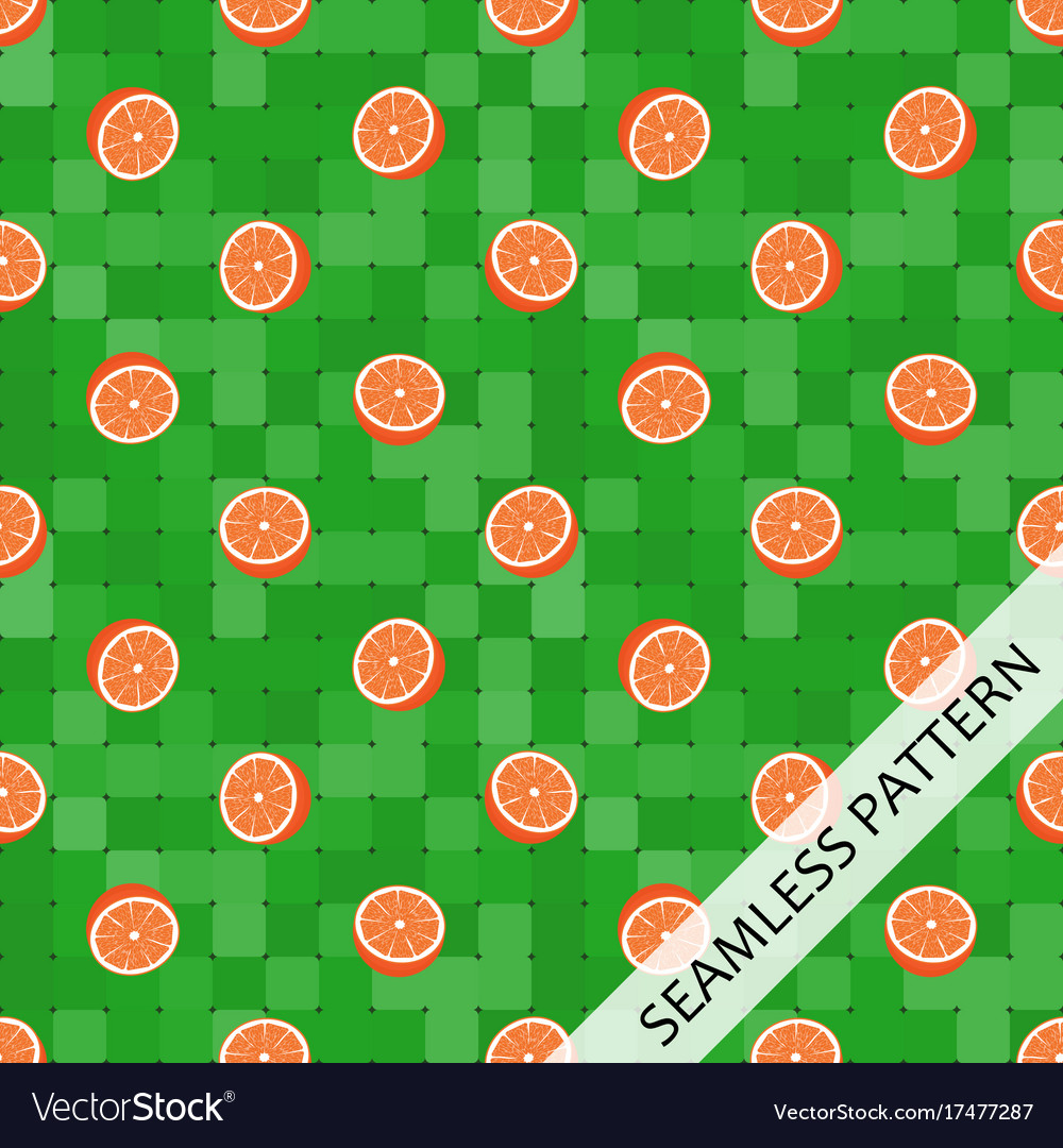 Seamless pattern with juicy oranges