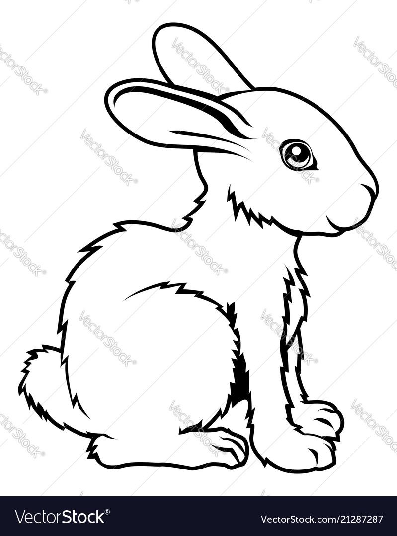 Stylised rabbit vector image