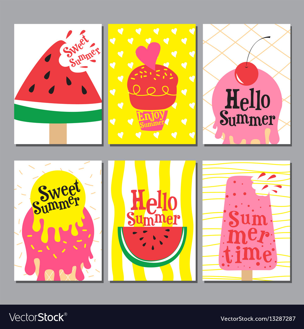 Summer layout design greeting card cover book