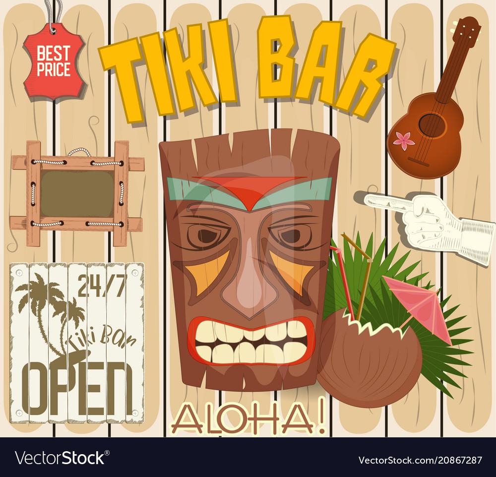 Tiki bar poster