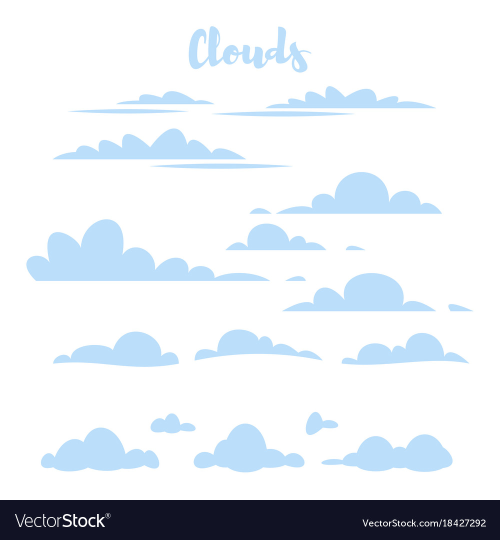 blue simple clouds royalty free vector image vectorstock rh vectorstock com clouds vector free clouds vector free