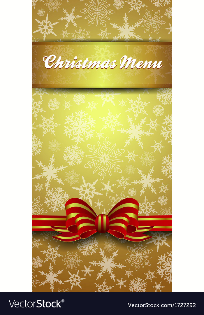 Christmas Snowflake Gold Menu
