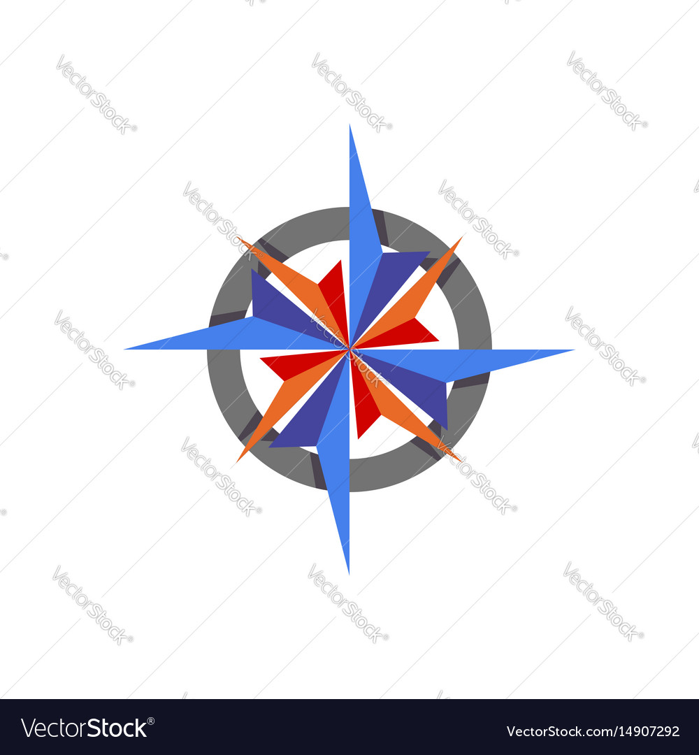 Compass abstract icon element