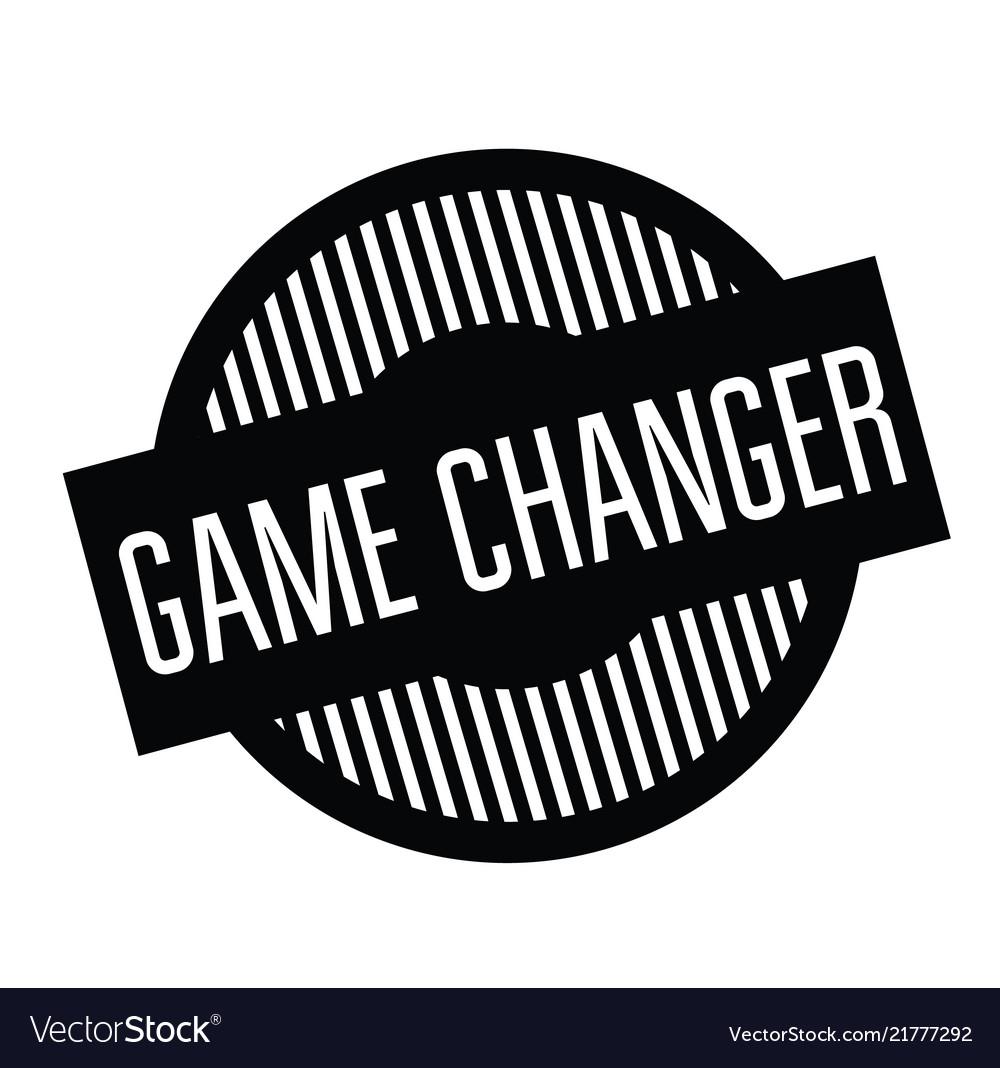 Game Changer Stamp On White
