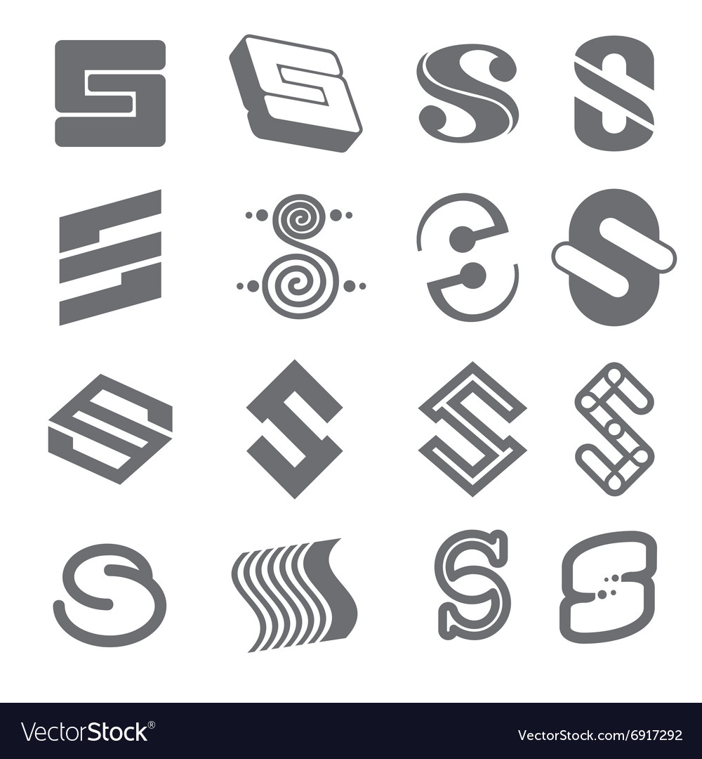 Geometric shapes for S letter logo and monogram